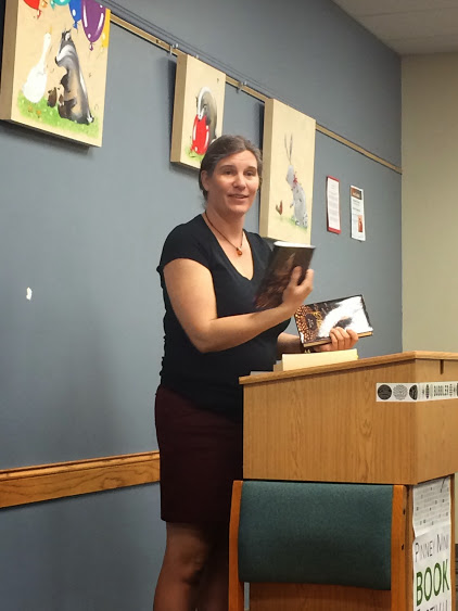 Kat Beyer at a book reading